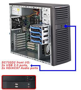 کیس سرور سوپرمیکرو CSE-732D2-400B